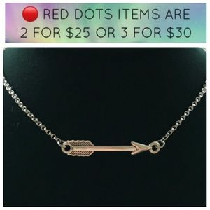 🔴SALE ! Boho little silver arrow necklace chain